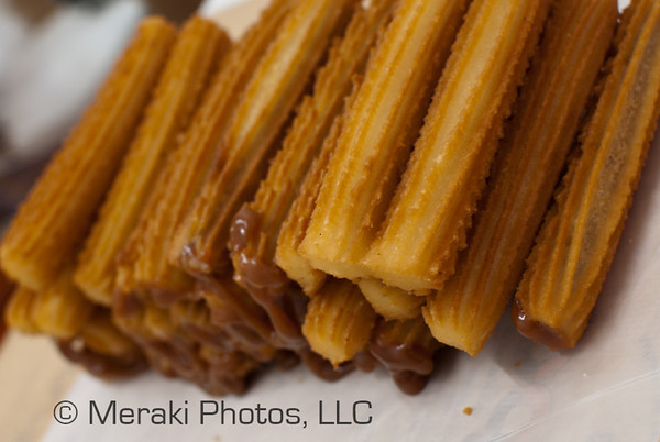 Photo of stack of churros