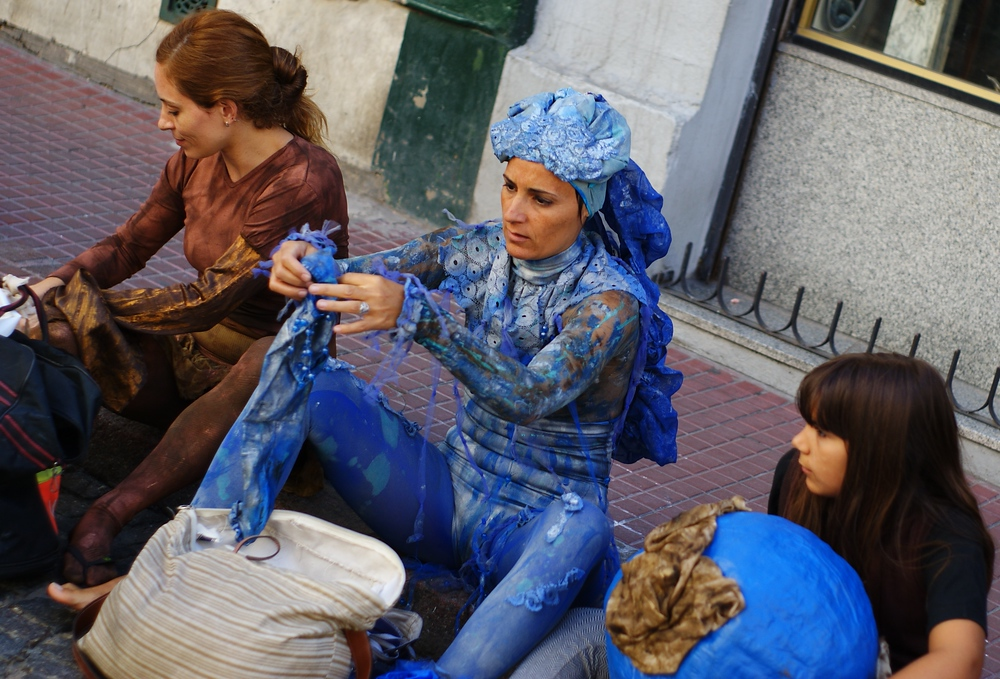 Performer in Blue | San Telmo | Buenos Aires, Argentina