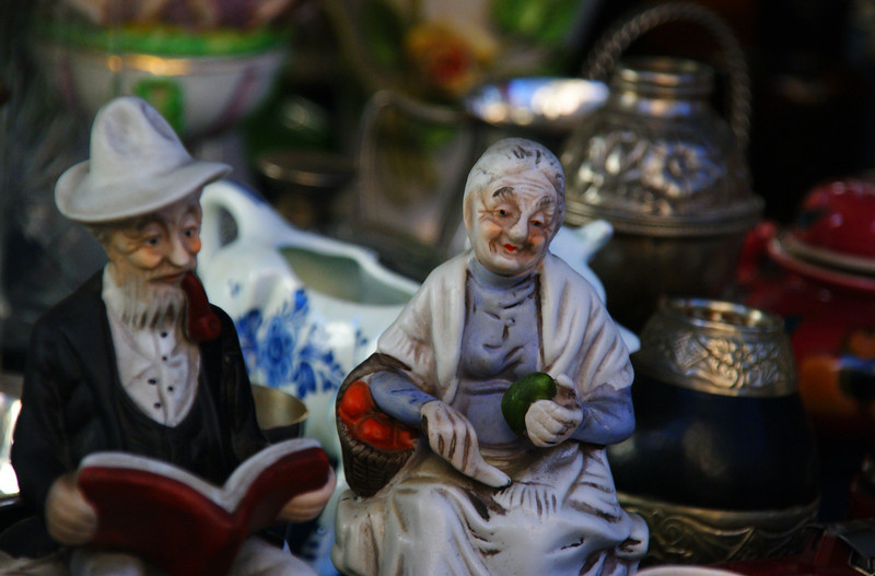 """A figure of an elderly lady for sale at the San Telmo Sunday Market - Buenos Aires, Argentina.  A travel photo from Buenos Aires, Argentina. <a href=""""http://nomadicsamuel.com"""">http://nomadicsamuel.com</a>"""