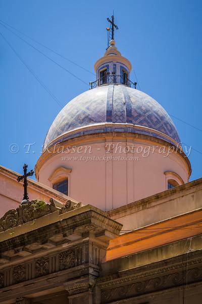 The Metropolitan Cathedral exterior facade in Buenos Aires, Argentina, South America.