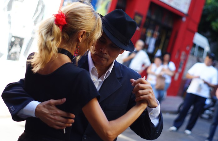 Learning to dance tango in Buenos Aires.