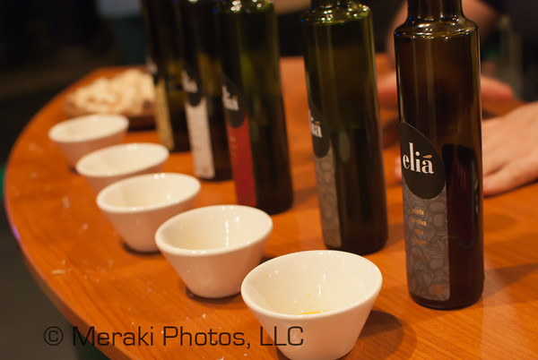 Photo of olive oil display
