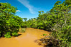 The Iguazu River above the Falls in Argentina, South America.