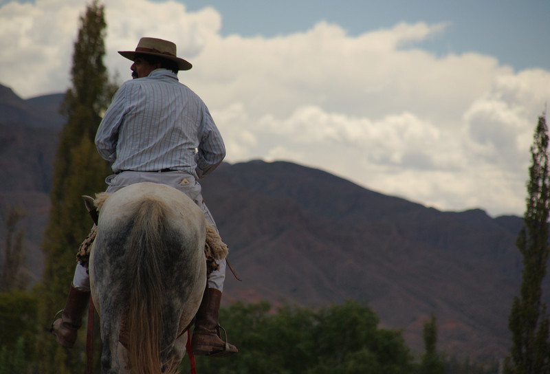 """A local rides a horse in Norte Argentino.  This is a travel photo from Norte Argentino. <a href=""""http://nomadicsamuel.com"""">http://nomadicsamuel.com</a>"""
