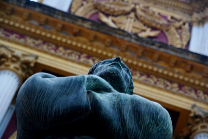 """A statue of Saint Francis of Assisi (Iglesia San Francisco) from the San Francisco Cathedral located in Salta, Argentina.  Travel photo from Salta. <a href=""""http://nomadicsamuel.com"""">http://nomadicsamuel.com</a>"""