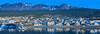 The city of Ushuaia, Argentina at sunrise.