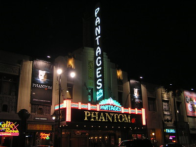 The plan was to spend the evening at the theatre (Phantom of the Opera), and stay up in Los Angeles for the night.  The next morning I would get up early and begin my journey to Argentina.