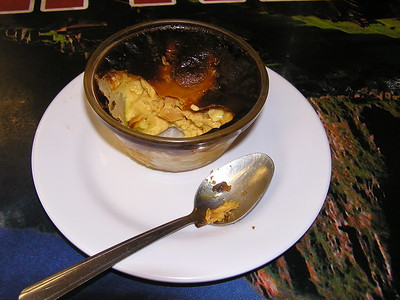 The leche asada was similar to Mexican flan.  The Natalie Peruvian Seafood Restaurant earns a RANLAY Racing Money Back Guarantee.