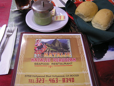 """Before the show we had to find a restaurant near the theatre.  My  """"Yelp"""" iPhone app yielded the Natalie Peruvian Seafood Restaurant."""