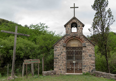 We paused at this old chapel for a photo and one of the interior...this was in the middle of nowhere