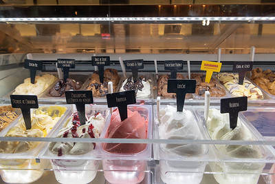 I think we had one scoop of each flavor!