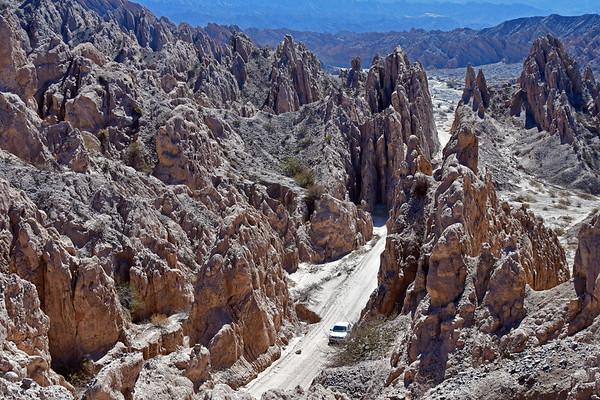 Quebrada de las Flechas tussen Angastaco en Cafayate