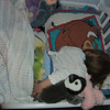 Ari asked to sleep in the big girl bed.<br /> She slept with all her friends.