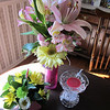 Flowers on the left are from Ariana<br /> Other flowers from Bob<br /> crystal tart warmer from Robin