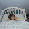 Ariana's 1st time in a big girl bed.<br /> She must have loved it - she slept almost 4 hours.