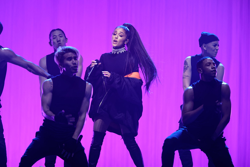 . Ariana Grande live at The Palace Of Auburn Hills  on 3-12-2017. Photo credit: Ken Settle