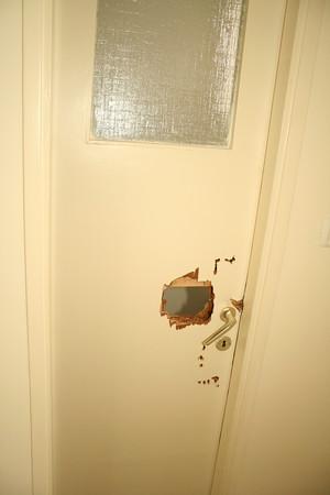 locked in lavatory