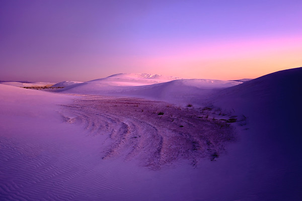 Dunes after Sunset, White Sands National Monument, NM