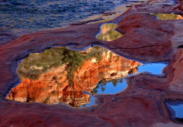 Red Rock reflection, Oak Creek, Sedona