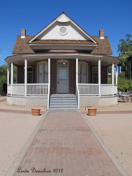 The Sirrine House was built in 1896 by Joel E. Sirrine for his new bride, Caroline Simkins Sirrine.<br /> Mesa Historical District, Mesa AZ