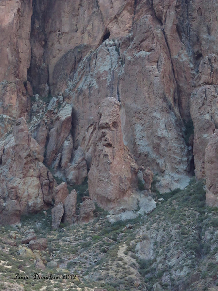 Part of Superstition Mountain, I see a face... do you?