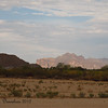 Superstition Mountain bathed in afternoon sun, as seen from Red Mountain Park JUuly 2012