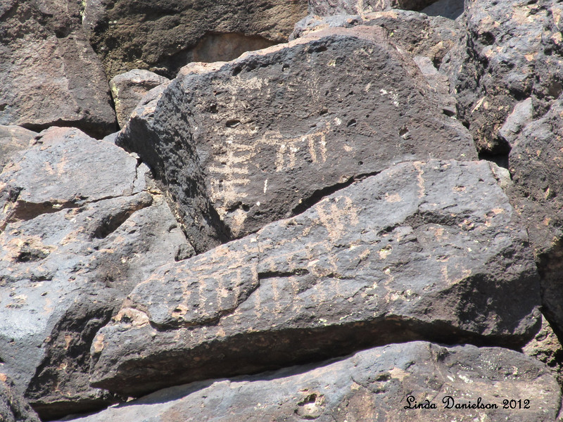 Petroglyphs, Deer Valley Rock Art Center<br /> Standing here where some ancient persons stood, carving their mark, was very humbling.