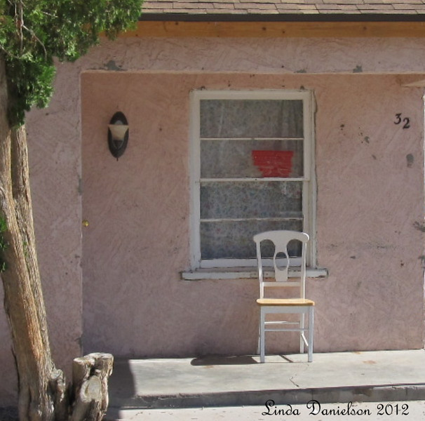 chair  (it looked sad, forlorn, but also very inviting, sitting here in the sunshine.... )<br /> Mesa Historical District, Mesa AZ