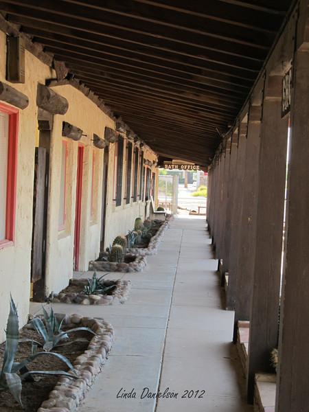 Front walkway, Buckhorn Motel, Mesa AZ