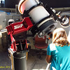 "10/21/12 - National Astronomy Day. ""  The observatory houses a 16-inch diameter Meade, modified Richey-Cretien scope, guided by a Paramount ME computer controlled German equatorial mount slaved to The Sky professional computer program. SRP contributed all funding for this state-of-the-art scope""<br /> In other words... Fannnn-cy!"