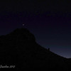 A shot of Venus as we hike along in the moonlight.<br /> White Tank Mountain Regional Park, Waddell AZ