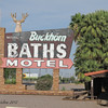 Original sign, Buckhorn Motel, Mesa AZ,<br /> a unique part of this town's history