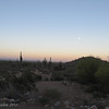 Dusk at White Tank Mountain Regional Park.  We're about to head out for a Moonlight Hike ... the moon is already up!