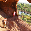 Brian and Brianna inside Hole in the rock... Hey, who's got the dogs?  lol