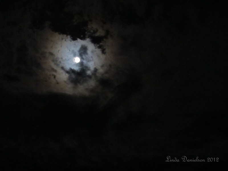 August Blue Moon from my backyard. <br /> In the first couple hours, we had some wispy clouds which helped make for great photo ops :)