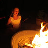 We roasted hot dogs for dinner ... then s'mores for dessert! -- with my granddaughter