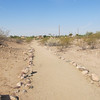 You can see many of the remnants of the extensive canals left by the Hohokam culture, Park of the Canals, Mesa AZ