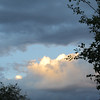 Grey cloudy morning, but sun broke through, I love the play of light on the edge of the clouds!