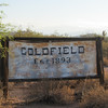 Goldfield Mine sign around Superstition Mountains
