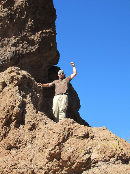 Brian at Superstition Mountain, we climbed Treasure Loop Trail, altitude increased 500ft in one mile