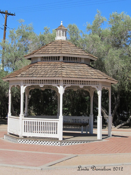 Gazebo behind Sirrine house,<br /> Mesa Historical District, Mesa AZ