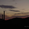 Sunset over the valley, near Superstition Mountains<br /> Caught this just before the moon would rise