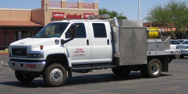 Flying Eagle Fire brush truck GMC
