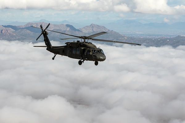 Black Hawk In The Clouds