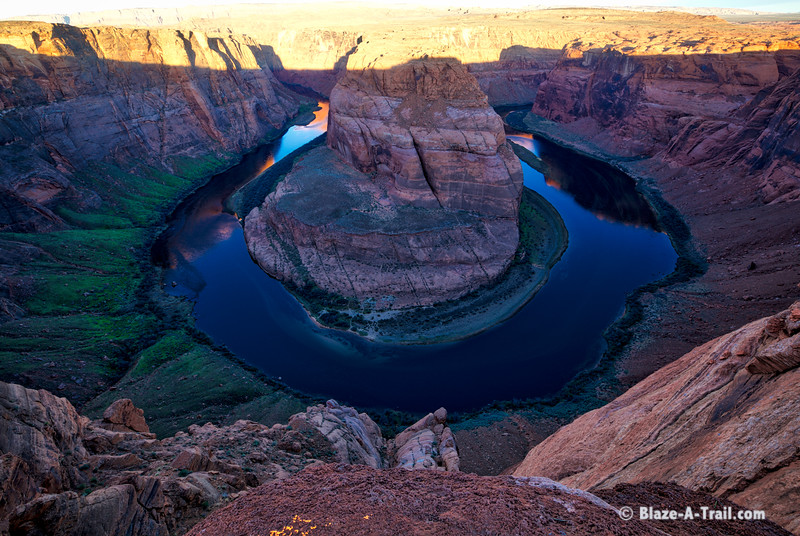 """Sunrise at Horseshoe Bend, Page AZ   For more information, visit my blog:  <a href=""""http://blaze-a-trail.blogspot.com/2016/04/horseshoe-bend-page-az-memorable-sunrise.html"""">http://blaze-a-trail.blogspot.com/2016/04/horseshoe-bend-page-az-memorable-sunrise.html</a>"""