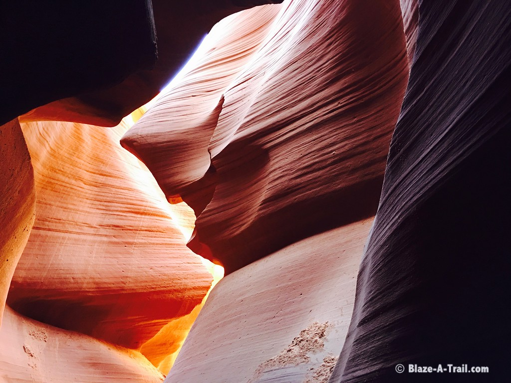 """Lower Antelope Canyon (March 2016) - Bruce the Shark   For more information, see blog post:  <a href=""""http://blaze-a-trail.blogspot.com/2016/05/antelope-canyon-famous-slot-canyon-of.html"""">http://blaze-a-trail.blogspot.com/2016/05/antelope-canyon-famous-slot-canyon-of.html</a>"""