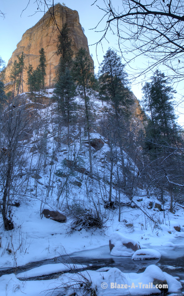 Sedona's West Fork Oak Creek Trail in Winter