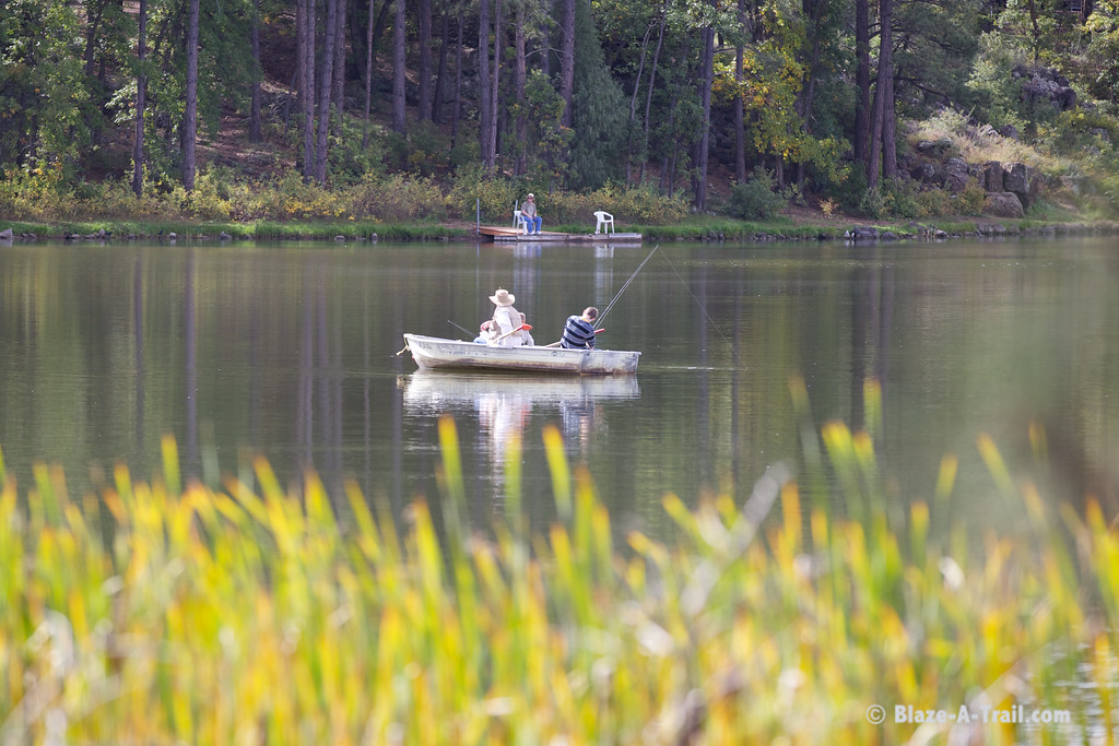 Fishing in the White Mountains at the Lake of the Woods, Pinetop (October 2014)