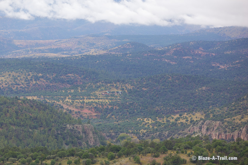 Primitive forest roads to Blue, Arizona along the New Mexico border (October 2014)