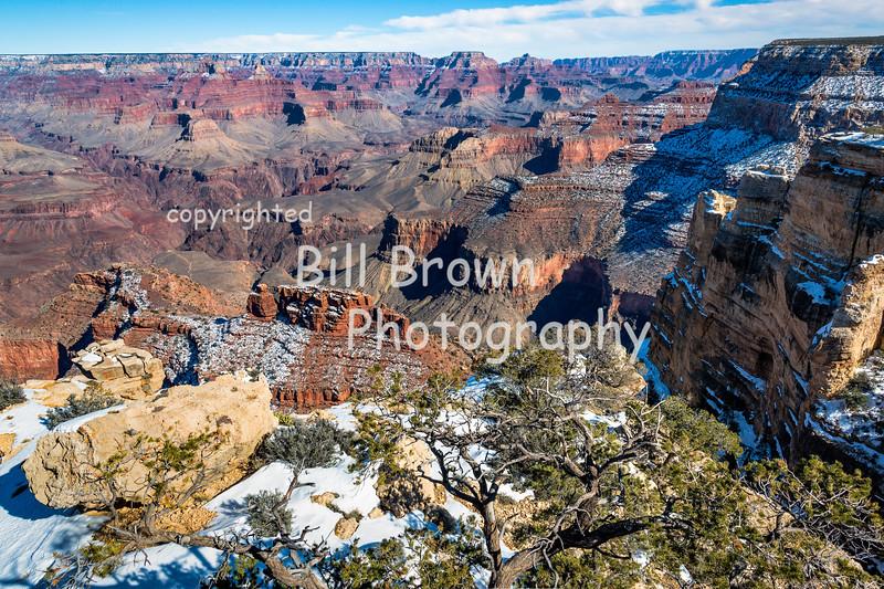 Grand Canyon Snow Scene
